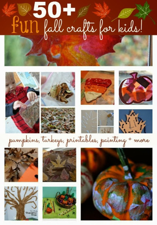 50 Fall Craft Ideas For Kids #craft #DIY www.InTheKitchenWithKP
