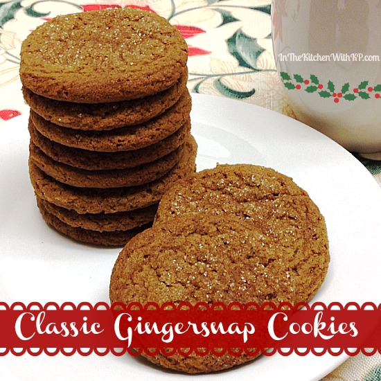 Classic Gingersnap Cookies #recipe www.InTheKitchenWithKP #cookieweek 2