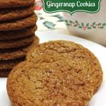 Classic Gingersnap Cookies #CookieWeek