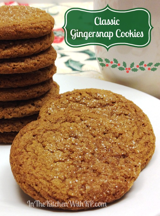 Classic Gingersnap Cookies #recipe www.InTheKitchenWithKP #cookieweek