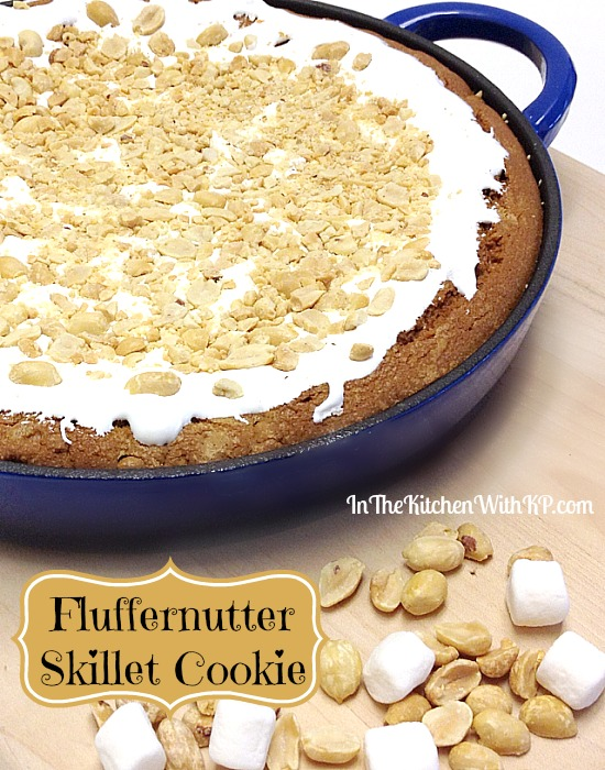 Fluffernutter Skillet Cookie #recipe #HolidayButter #shop www.InTheKitchenWithKP 4