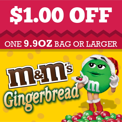 Gingerbread MMs coupon #ad #shop #cbias
