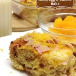 Overnight Ham, Egg and Cheese Bake #MyMilkMyPlate