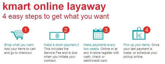 kmart online layaway promo image