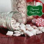 Peppermint Puppy Chow Snack Mix #recipe www.InTheKitchenWithKP 2