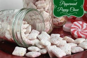 Peppermint Puppy Chow Snack Mix
