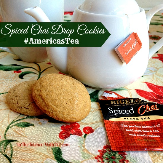 Spiced Chai Drop Cookies #recipe with @bigelowtea #AmericasTea #shop www.InTheKitchenWithKP 1