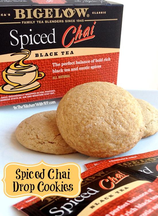 Spiced Chai Drop Cookies #recipe with @bigelowtea #AmericasTea #shop www.InTheKitchenWithKP 4