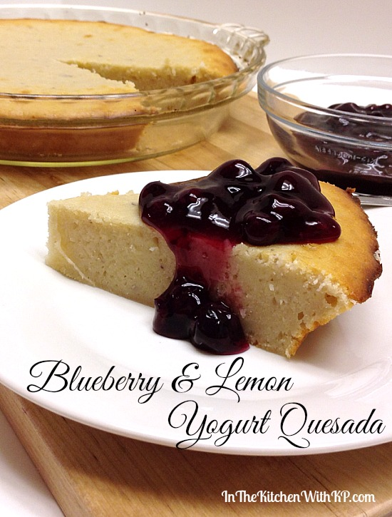 Blueberry and Lemon Yogurt Quesada #recipe #tapas #dessert www.InTheKitchenWithKP 3