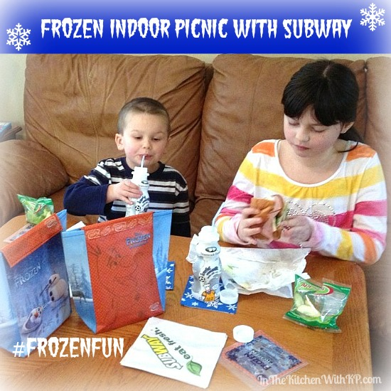 FROZEN Indoor Picnic with SUBWAY #FrozenFun #shop www.InTheKitchenWithKP 3