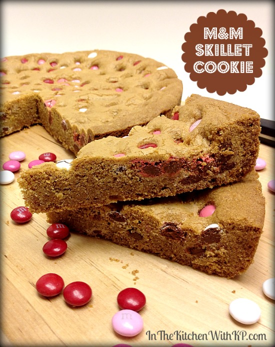 MM Skillet Cookie Recipe Dessert InTheKitchenWithKP