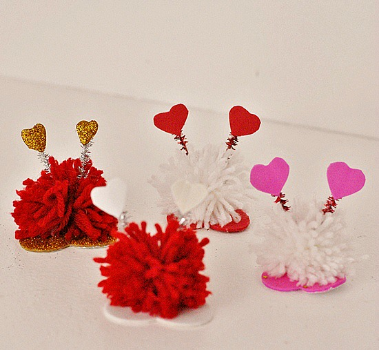 Pom Pom Monsters Kid Craft for Valentine's Day #craft www.InTheKitchenWithKP 7