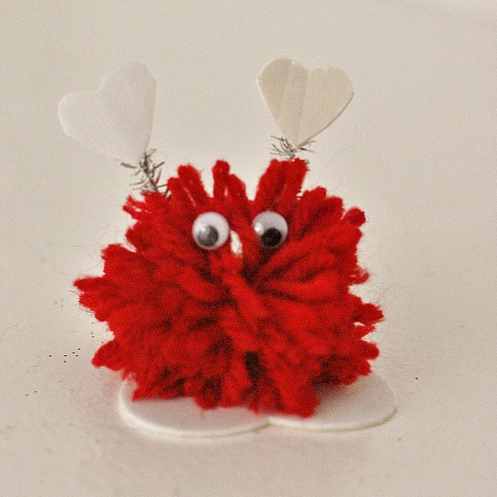 Pom Pom Monsters Kid Craft for Valentine's Day #craft www.InTheKitchenWithKP 8