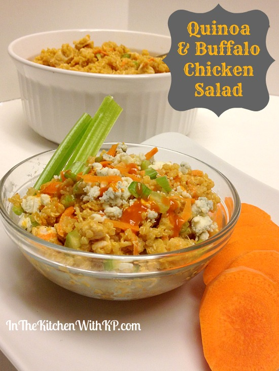 Quinoa and Buffalo Chicken Salad #recipe www.InTheKitchenWithKP 1