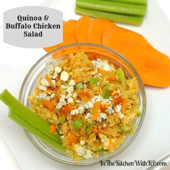 Quinoa and Buffalo Chicken Salad #recipe www.InTheKitchenWithKP 2