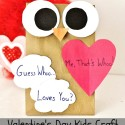 Homemade Owl Gift Bag Kid Craft for Valentine's Day