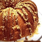 Caramel Coconut Bundt Cake with Chocolate Drizzle