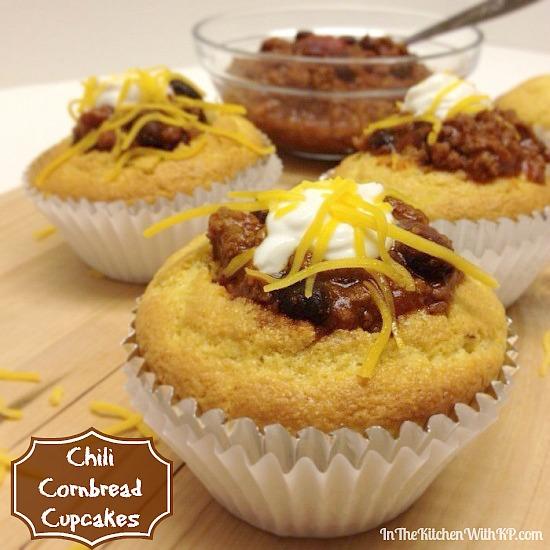 Chili Cornbread Cupcakes #recipe www.InTheKitchenWithKP 2