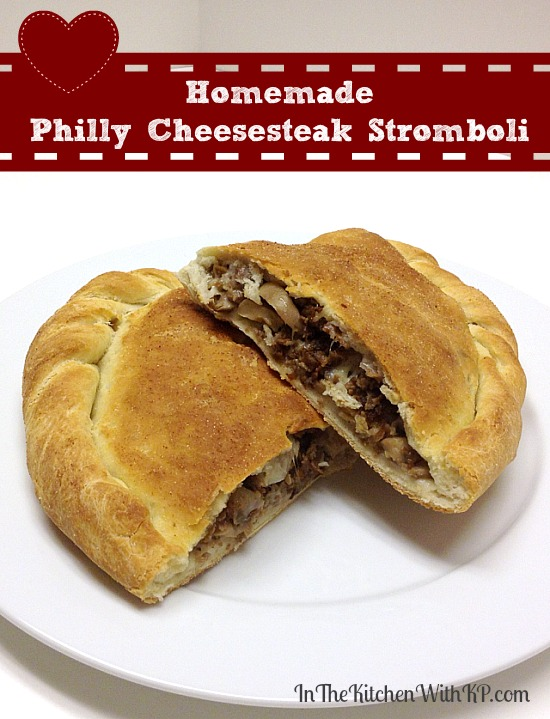 Homemade Philly Cheesesteak Stromboli #recipe www.InTheKitchenWithKP 1