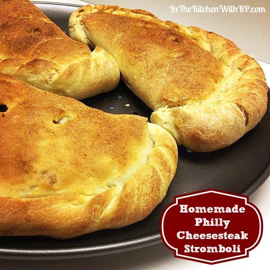 Homemade Philly Cheesesteak Stromboli #recipe www.InTheKitchenWithKP 6