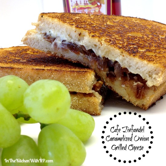 Cafe Zinfandel Caramelized Onion Grilled Cheese #recipe www.InTheKitchenWithKP 3