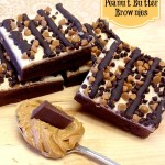 Chocolate Peanut Butter Brownies #chocPBday www.InTheKitchenWithKP 2