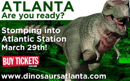 Extreme Dinosaurs Exhibit Opens Atlantic Station #ExtremeDinos www.InTheKitchenWithKP 1