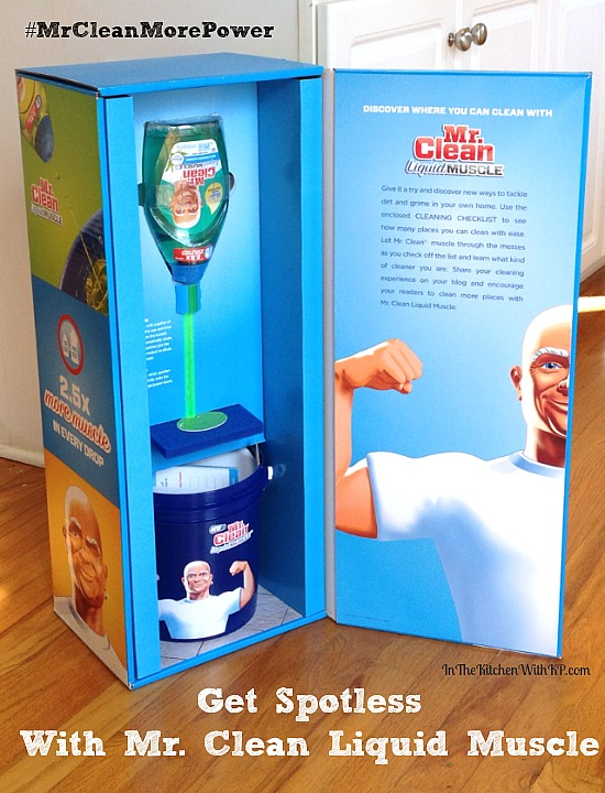 Get Spotless With @RealMrClean Liquid Muscle #MrCleanMorePower www.InTheKitchenWithKP 1