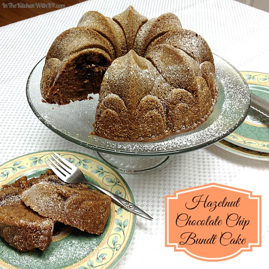 Hazelnut Chocolate Chip Bundt Cake #recipe www.InTheKitchenWithKP 2