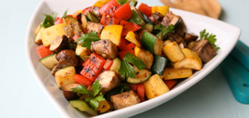 Super Easy Pan Roasted Florida Vegetable Medley @FreshfromFL