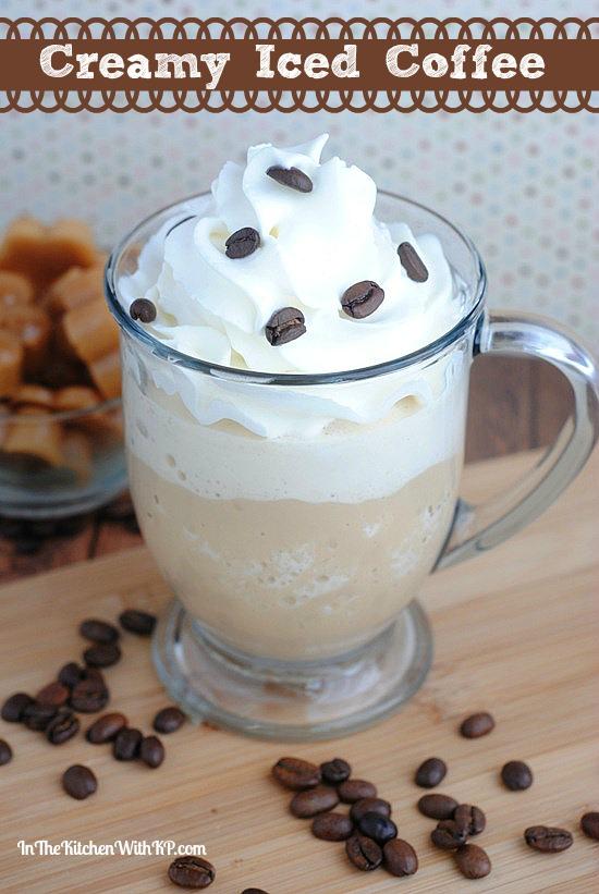CreamyIced Coffee #Recipe www.InTheKitchenWithKP 1