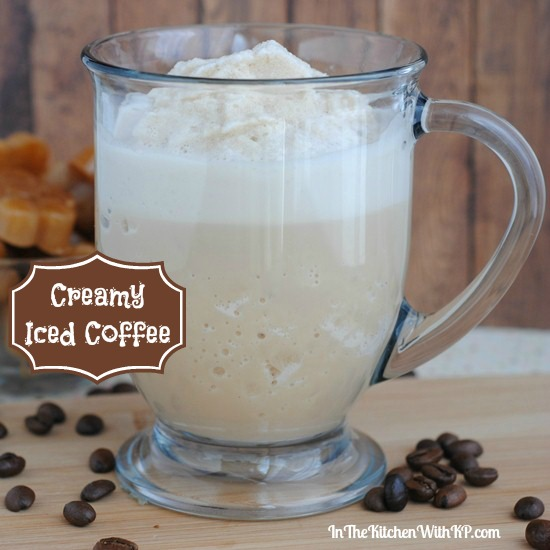Creamy Iced Coffee #Recipe www.InTheKitchenWithKP 5