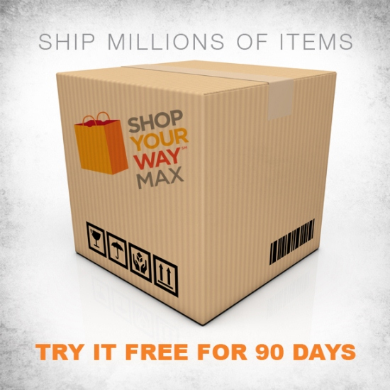 Meet @ShopYourWay MAX! Free 2 Day Sears/Kmart Shipping