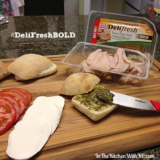 Toasted Tuscan Turkey Slider #DeliFreshBold 2
