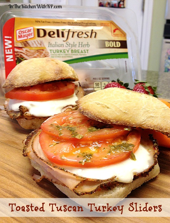 Toasted Tuscan Turkey Slider #DeliFreshBold 3