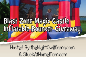 Family Fun Filled Blast Zone Magic Castle Inflatable Giveaway Coming Soon!