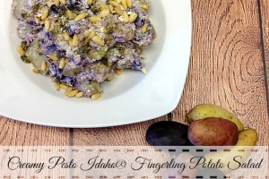 Creamy Pesto Idaho® Fingerling Potato Salad #SundaySupper with @IdahoPotato