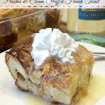 Overnight Peaches and Cream Stuffed French Toast  #SundaySupper @GalloFamily
