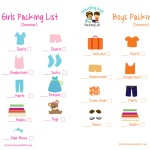 Free Printable Picture Packing List for Family Travel