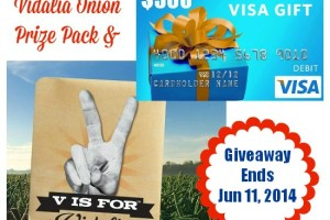 Vidalia Onion Prize Pack and $500 VISA Gift Card Giveaway #VisforVidalia