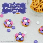 How To Make Chocolate Pretzel Flowers