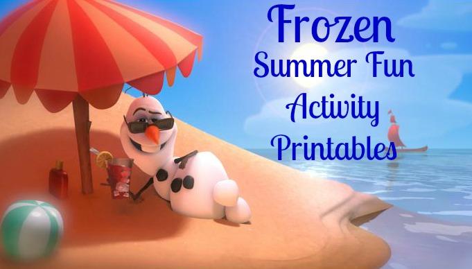 Frozen Free Activity Printables