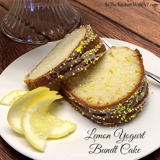 Lemon Yogurt Bundt Cake #Recipe www.InTheKitchenWithKP 3