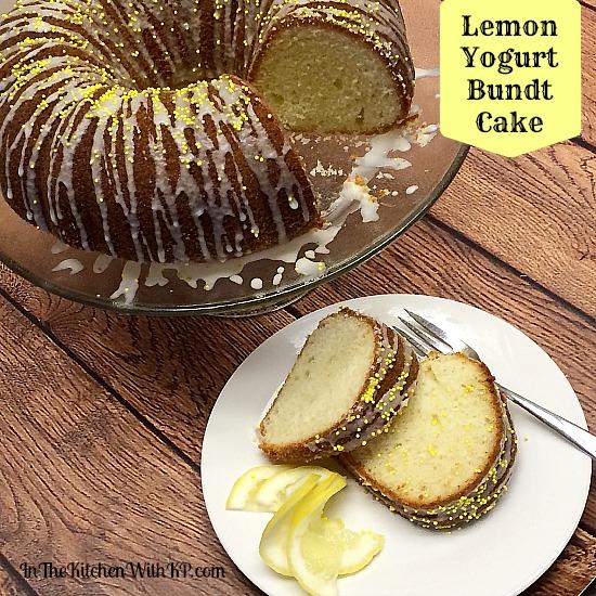 Lemon Yogurt Bundt Cake #Recipe www.InTheKitchenWithKP 4
