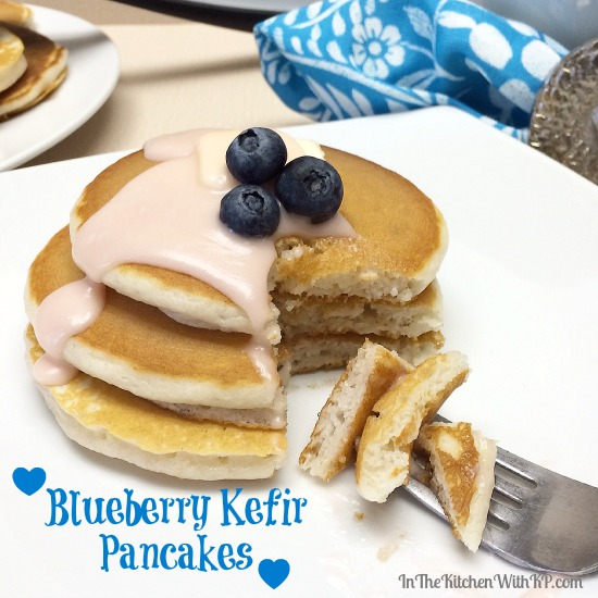Blueberry Kefir Pancakes #KefirCreations #shop #recipe www.InTheKitchenWithKP 1