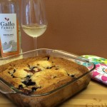 Riesling Infused Peach and Blueberry Cobbler for Easy Entertaining #SundaySupper @GalloFamily