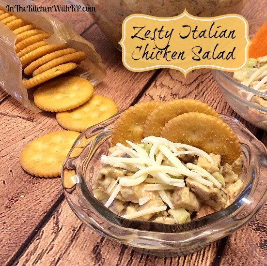 Zesty Italian Chicken Salad #RollIntoSavings #shop www.InTheKitchenWithKP #recipe #chicken 3
