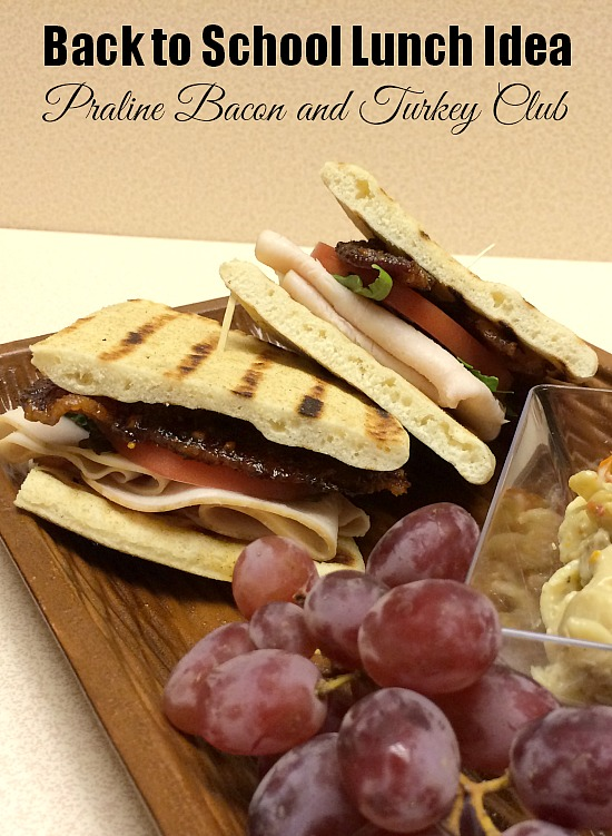 Back to School Lunch Idea Praline Bacon and Turkey Club www.InTheKitchenWithKP #HillshireNaturals 1