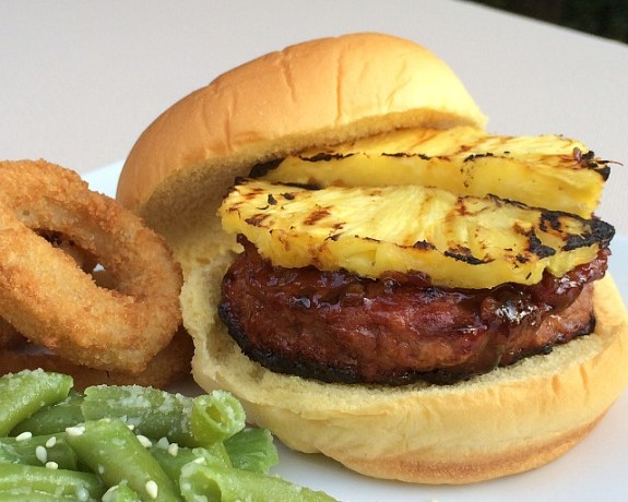 Grilled Pineapple Teriyaki Turkey Burgers #recipe www.InTheKitchenWithKP slider