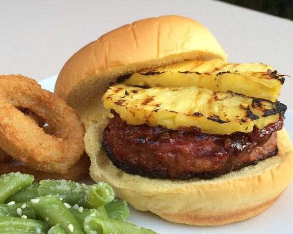Grilled Pineapple Teriyaki Turkey Burgers #recipe www.InTheKitchenWithKP slider